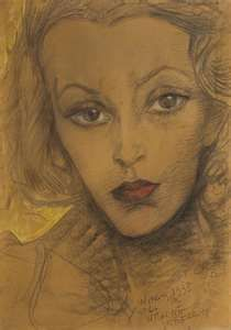 Witkacy- Portrait of Maria Dabrowiecka. I like it for a few reasons. Pastel Drawing, Painting & Drawing, 3d Drawings, Drawing Faces, Magic Realism, Cat Posters, Harlem Renaissance, Artists Like, Female Portrait