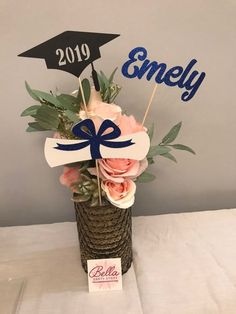 Excited to share the latest addition to my shop: Graduation party decorations Graduation Centerpiece Sticks, Grad ,Cap ,Diploma , cu. Diy Graduation Gifts, College Graduation Parties, Grad Parties, Graduation Ideas, Graduation Bouquet, Graduation Flowers, Graduation Quotes, College Gifts, Stick Centerpieces