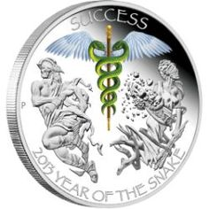 Perth ANDA Coin Show Special 2013 Year of the Snake - Success 1oz Silver Proof Coin