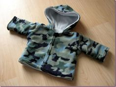 Blouson 3 mois réversible version camouflage - Les Bricoles de l'Arsouille