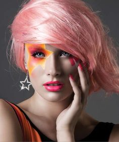 Jem and the Holograms inspired makeup!
