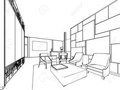Inter Prinzipskizze Zeichnung Perspektive Eines Raumes Lizenzfreie Fotos, Bilder Und Stock Fotografie. Image 47039331.