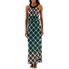 R&K Originals® Sleeveless Blouson Maxi Dress with Beaded Neck - JCPenney