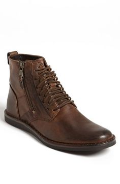 John+Varvatos+Star+USA+'Barrett'+Plain+Toe+Boot+(Men)+(Online+Only)+available+at+#Nordstrom  Love the edgy laces and convenient zipper on this men's boot.