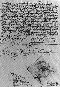 The decree for expelling the Jews from Spain in 1493..