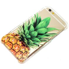 Pineapple Clear Henna Style Transparent Clear Phone Case iPhone 6, 7, SE, 6 Plus, 7 Plus, 6S, 5, 5C, 5S, Galaxy S6, S7, Note 5, Note 7