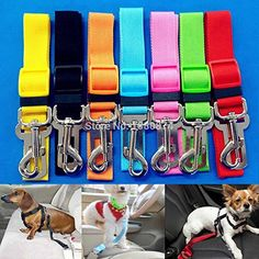 Newest Cat Dog Pet Safety Seatbelt Car Vehicle Seat Belt Adjustable Harness Lead PLFL *** Check out this great product by click affiliate link Amazon.com