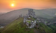 Corfe Castle in Dorset is thought to be the inspiration for Kirrin Castle in Enid Blyton's Famous Five books. Photographs: Alamy