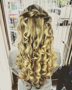 #braided #highlights #curly #banquet