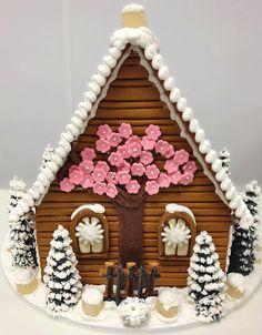 Custom cherry tree Gingerbread House from The Solvang Bakery.