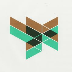 Geometric design using metallic ink.
