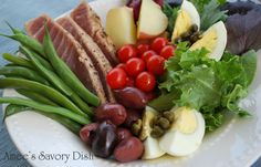 Simple Tuna Nicoise Salad. I just love this!!! And capers are required.