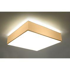 Rewelacyjny Efekt Świetlny Lampa na Sufit Plafon HORUS 45 Biały Kwadrat – Sklep Lampex - 285 PLN