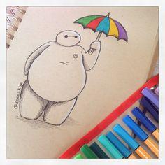DeeeSkye — Rainbow umbrella Baymax :)