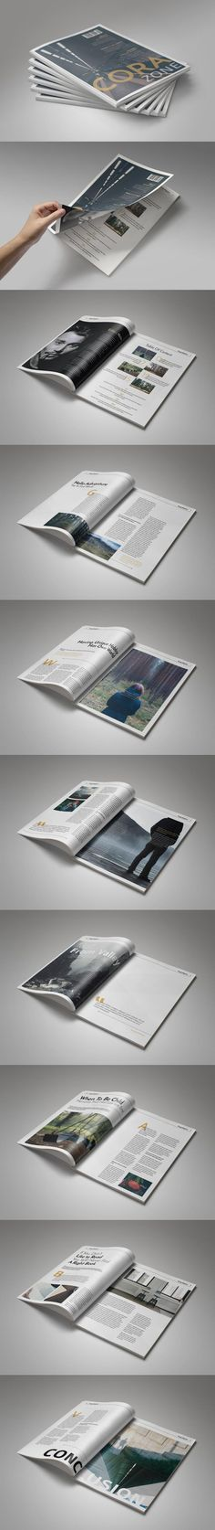 #magazine #design from Corazone   DOWNLOAD: https://creativemarket.com/Corazone/494482-Multipurpose-Magazine-Vol.-1?u=zsoltczigler