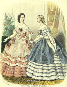 civil war 1860 ball gowns *swoon*