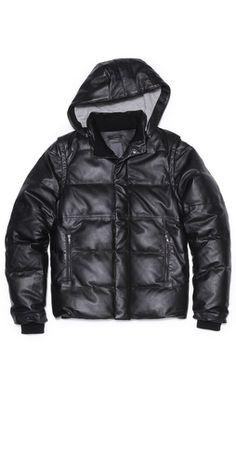 Lot78 Convertible Leather Puffer Coat Convertible, Winter Jackets, Coats, Leather, Fashion, Winter Coats, Moda, Infinity Dress, Wraps