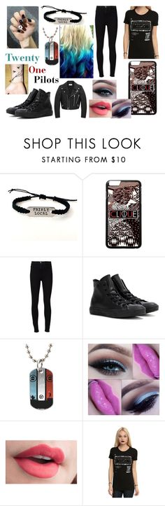 """""""Kelli's Concert Outfit"""" by alexblackwood ❤ liked on Polyvore featuring Frame, Converse, Hot Topic, Yves Saint Laurent and plus size clothing"""