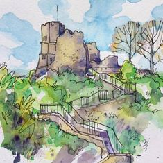 Lewes Castle, East Sussex - Lyndsey Smith Lewes Castle, English Castles, Tower House, Contemporary Artwork, East Sussex, Historic Homes, Artworks, Medieval, Buildings