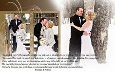 Regina photographer winter wedding recommedation for Carol's photography