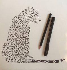 Georgia bocchetta, #Leopard #drawing