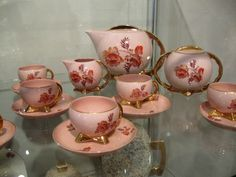 Pink porcelain from Cmielow, Poland, 1930's