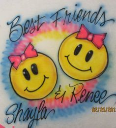 AIRBRUSHED TSHIRT Best Friends by AirbrushtexasTees on Etsy, $15.00