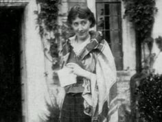 """Virginia Woolf, 1925 """"Happiness is in the quiet, ordinary things. A table, a chair, a book with a paper-knife stuck between the pages. And the petal falling from the rose, and the light flickering as we sit silent."""" ~ The Waves"""