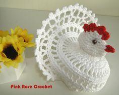 PINK ROSE CROCHET /: Galinha Branca de Páscoa - Crochê