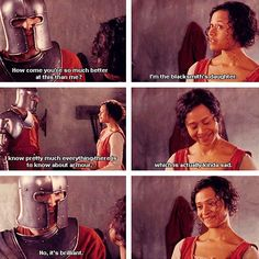 I love all the subtle ways Gwen & Arthur flirted. He fell in love with her because in the midst of Camelot being attacked, and getting pressured from all sides to live up to his name, Gwen was real with him all the time and loved him for who he was.