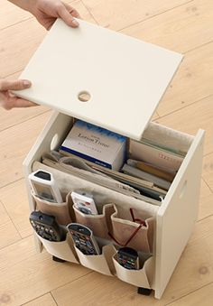 Small organised table for all your needs, so cute too.