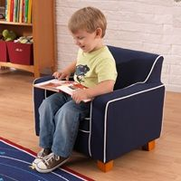 The Navy Laguna Chair is the perfect way for your kids to read their favourite book in style and, most importantly, comfort. Kids Bedroom Dream, Dream Kids, Nursery Furniture, Kids Furniture, Navy Nursery, Hall Interior, Baby Store, Seat Cushions, Toy Chest
