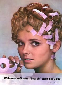 Scotch Hair Set Tape - 1968 - Cheryl Tiegs