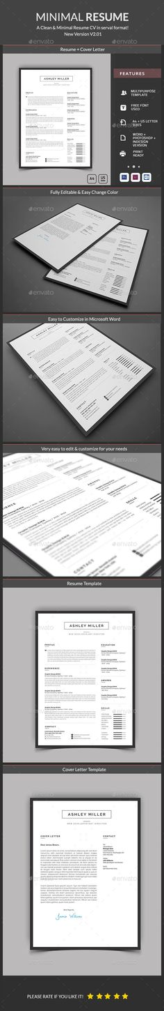 2 in 1 photo resume template Cool resumes, Beautiful and Template