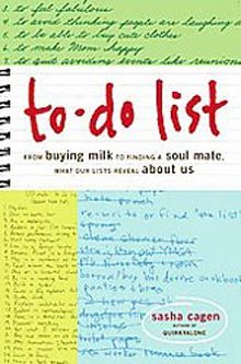 2016 – 02 –16 TODAY'S DEAL!!! 53% OFF!! To-Do List: From Buying Milk to Finding a Soul Mate, What Our Lists Reveal About Us $7.50 You save 53% off the regular price of $16.00 Description More and ...