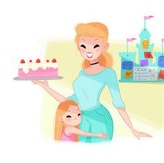 Cinderella would be all over Pinterest if Disney Princesses were moms.