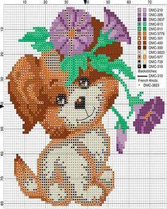 gráficos punto de cruz gratis de animales