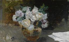 Joaquín Sorolla - Bouquet of white roses