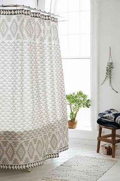 4040 Locust Pyramid Geo Shower Curtain