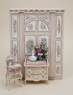 Click Image to Close (jt-lovely nursery vignette - furniture all hand painted by Bluette Meloney)