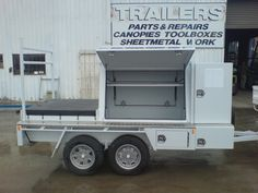 Work Trailer, Enclosed Trailers, Construction Tools, Camper Ideas, Tool Box, Photo Galleries, Steel, Car, Atelier