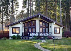 Недорогие дома из клееного бруса. Маленькие, небольшие, бюджетные эконом дома серии Оптима