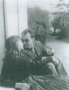 Anna Karina and Jean-Luc Godard in the early 1960's