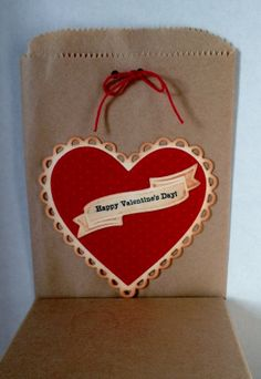 vintage looking valentine tags