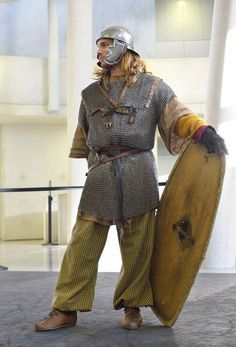 Re-enactor portraying Gallish Warrior by Carancerth however his shoes are annoyingly wrong