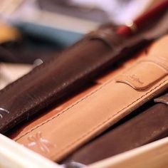 Pencils leather case. Designed by Ludena.
