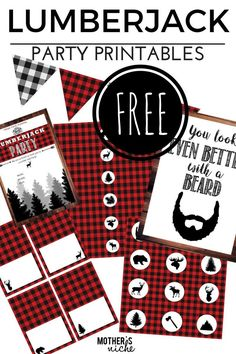 Lumberjack Invitation Template Free Fresh Lumber Jack Party with All the Free Party Printables You Need First Birthday Parties, Boy Birthday, First Birthdays, Birthday Ideas, Free Birthday, Birthday Celebration, Winter Birthday, Birthday Nails, Happy Birthday