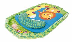 Browse Our Toys Brand By Category Ages By Gender Award Winning Jungle Fun Tummy Time Mat BUY This soft, cushioned mat features an inflatable base, water mat with 3 floating fish, comfortable support pillow and fun jungle designs. • Stimulating bright colors and textures • Develops upper body strength • Built-in water mat • Mat …