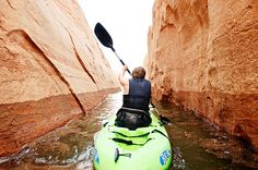 Kayaking works your arms, shoulders, and upper body