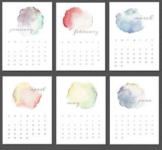 3 Watercolor Calendars to Brighten Up January
